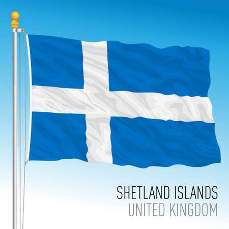 Shetland Islands official flag, United Kingdom, vector illustration