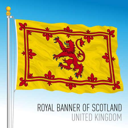 Royal banner of Scotland, United Kingdom, vector illustration Vettoriali