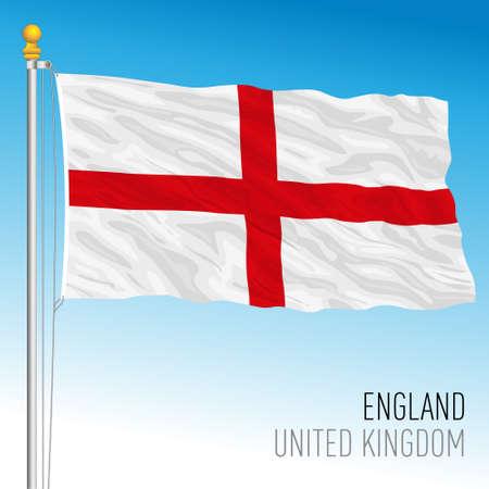 England official regional flag, United Kingdom, vector illustration