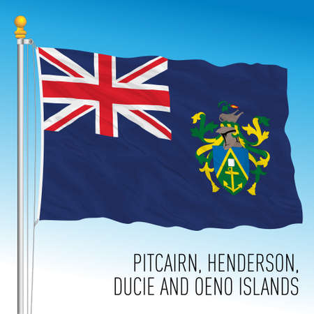 Pitcairn official national flag, british territory, vector illustration