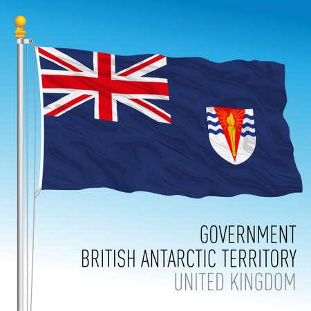 British Antarctic Territory government flag, United Kingdom, vector illustration