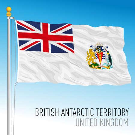 British Antarctic Territory official flag, United Kingdom, vector illustration Vettoriali