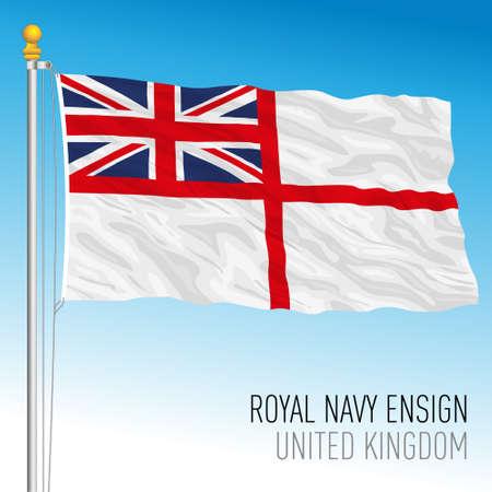 Royal Navy ensign, United Kingdom, vector illustration