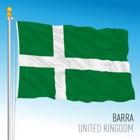 Barra Islands flag, Hebrides islands, United Kingdom, vector illustration