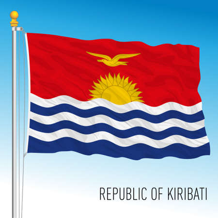 Kiribati official national flag, vector illustration