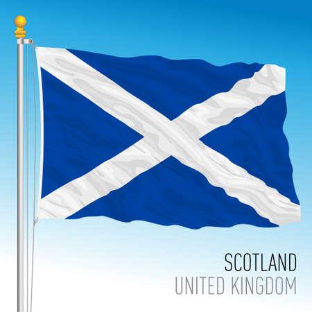 Scotland official flag, United Kingdom, vector illustration