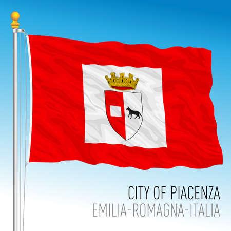 Rimini official flag of the city, Emilia-Romagna, Italy, vector illustration