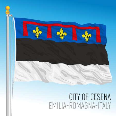 Cesena flag of the city, Emilia Romagna, Italy, vector illustration