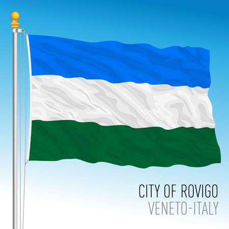 Flag of the city of Rovigo, Veneto, Italy