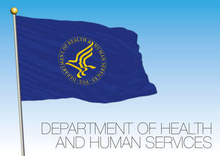 Flag of the United States Department of Health and Human Services, United States, vector illustration Stock Illustratie