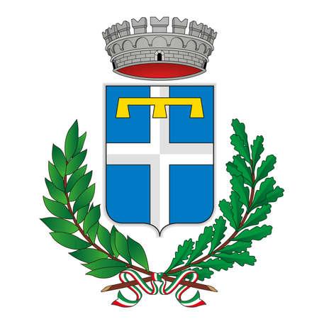 Castelnuovo Rangone, Modena, Emilia romagna, Italy, municipality coat of arms, vector illustration