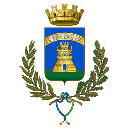 Castelfranco Emilia, city of Emilia Romagna, province of Modena, Italy, coat of arms and symbol, vector illustration
