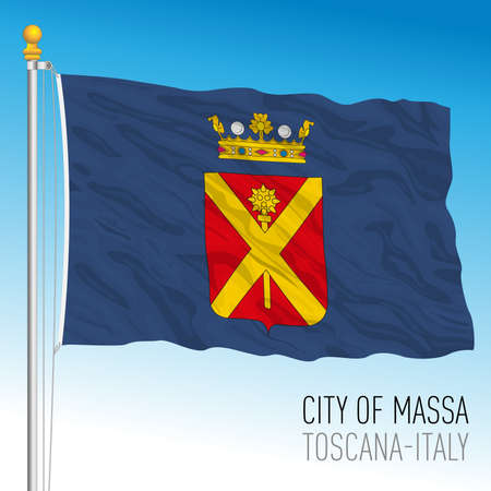 Massa official flag of the city and municipality, Tuscany, Italy, vector illustration 免版税图像 - 154408223