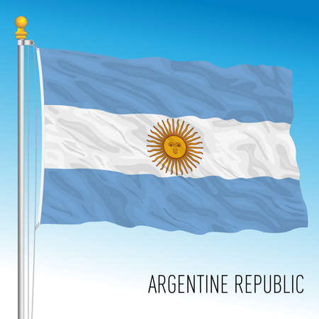 Argentina official national flag, south america, vector illustration Stockfoto - 154878744