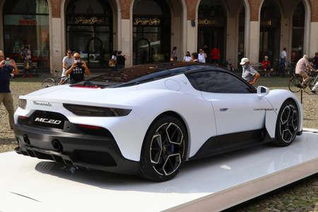 MODENA - ITALY - September 10, 2020 - Public presentation of the new Maserati MC20, back side