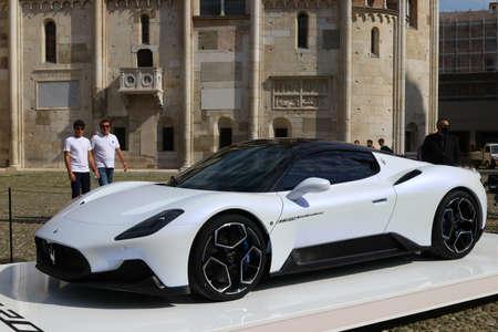 MODENA - ITALY - September 10, 2020 - Public presentation of the new Maserati MC20 in Piazza Grande square