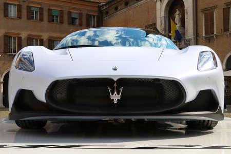 MODENA - ITALY - September 10, 2020 - Public presentation of the new Maserati MC20, front side Stockfoto - 155159752