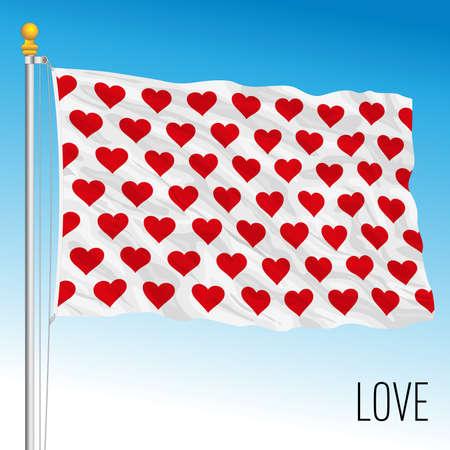 Symbolic love flag, fantasy image, vector illustration Stockfoto - 155426570