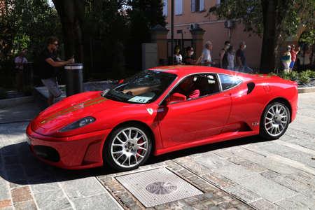 CASTELFRANCO EMILIA, MODENA, ITALY, september 9 - 2020 - Ferrari F430 in a public exhibition event, editorial Redactioneel