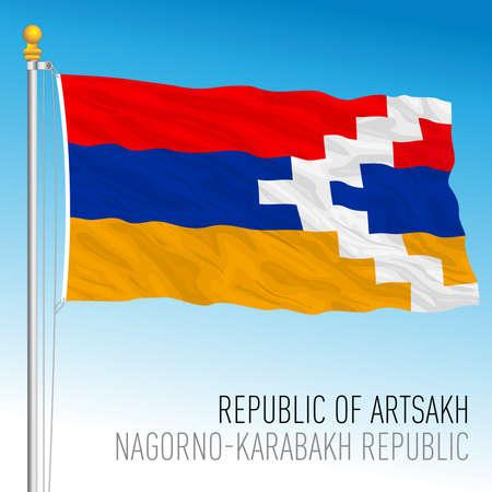 Artsakh Nagorno Karabakh national flag, asia, vector illustration