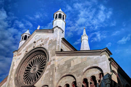 Cathedral of Modena and Ghirlandina tower, Modena, Italy, details