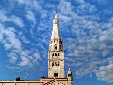 Ghirlandina tower bell, Modena, Italy, symbol of the city
