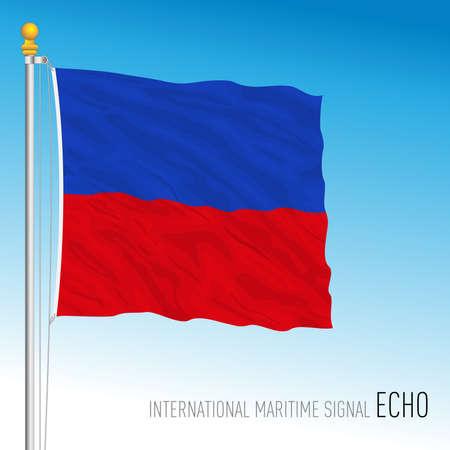 Echo flag, international maritime signal, vector illustration Ilustração