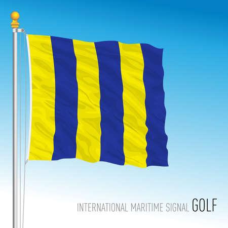 Golf flag, international maritime signal, vector illustration Ilustração