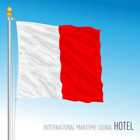 Hotel flag, international maritime signal, vector illustration Ilustração