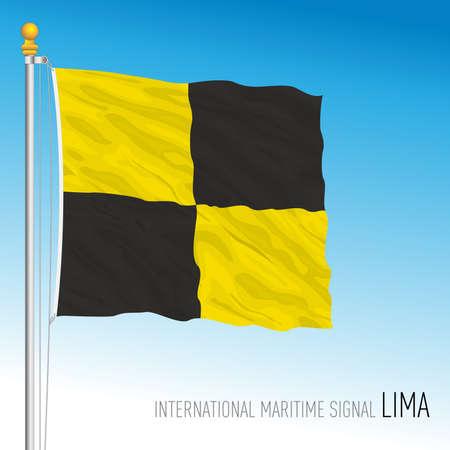 Lima flag, international maritime signal, vector illustration