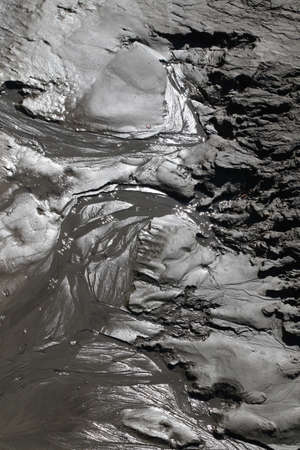 Mud residue in a river