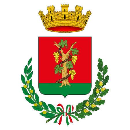 Vignola city municipal coat of arms, Emilia Romagna, Italy, vector illustration