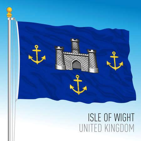 Isle of Wight historical flag, UK, vector illustration