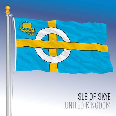 Isle of Skye official flag, Scotland, UK, vector illustration Illusztráció