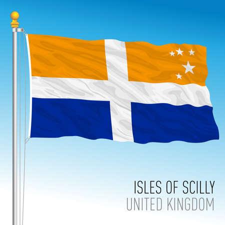 Isles of Scilly official flag, UK, vector illustration Illusztráció