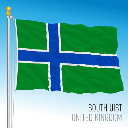 South Uist official flag, UK, vector illustration Illusztráció