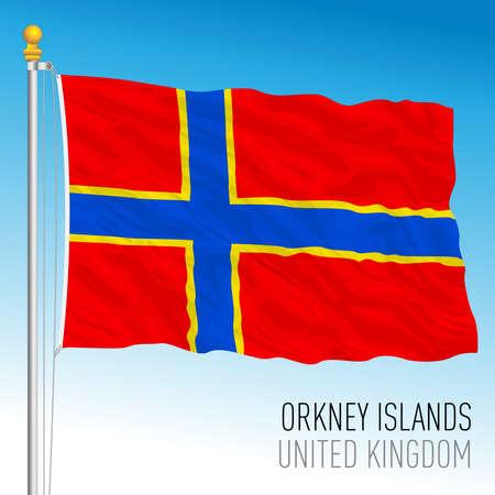 Orkney Islands official flag, Scotland, United Kingdom, vector illustration Illusztráció