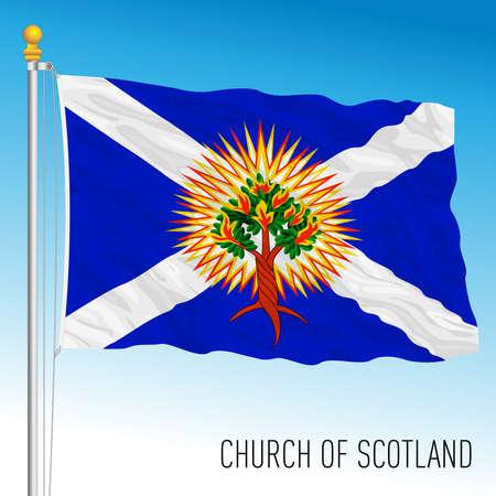 Church of Scotland flag, UK, vector illustration