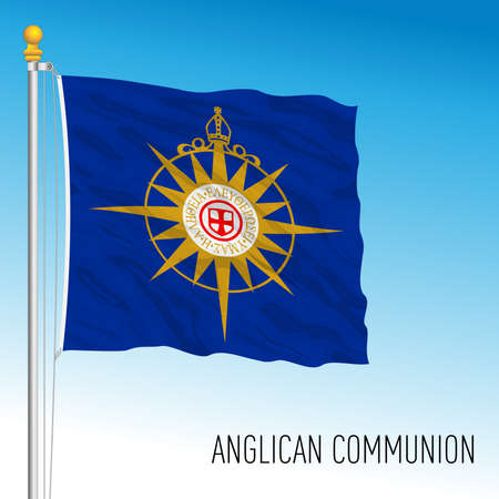 Anglican Communion church flag, UK, vector illustration