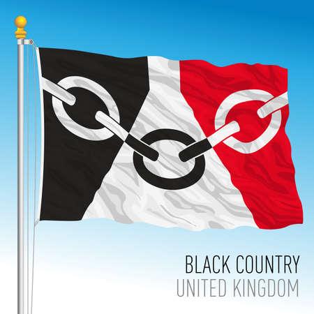 Black Country regional flag, United Kingdom, vector illustration