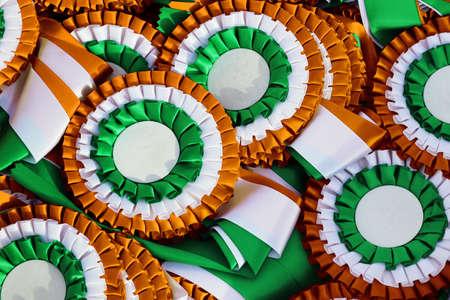 Irish tricolor cockades, national symbol, Ireland