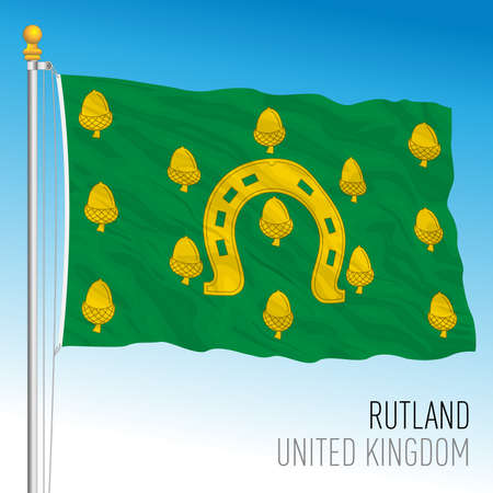 County of Rutland flag, United Kingdom, vector illustration
