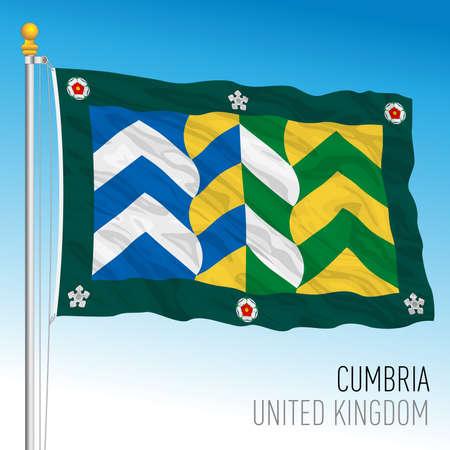 Cumbria county flag, United Kingdom, vector illustration Vettoriali