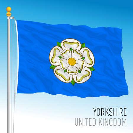 Yorkshire county flag, United Kingdom, vector illustration Vettoriali