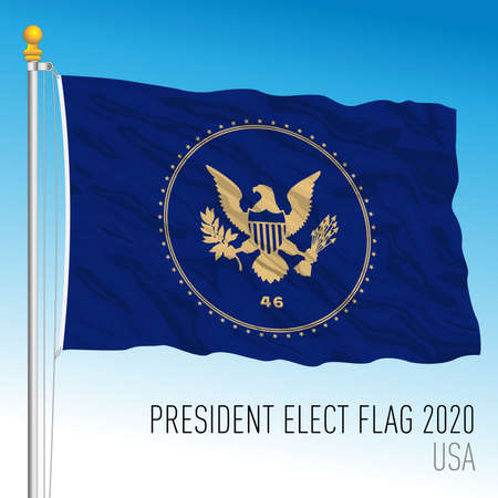 President Elect 2020 unofficial flag, vector illustration, United States Archivio Fotografico - 159450120
