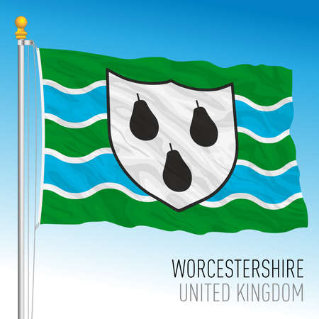 Worcestershire county flag, United Kingdom, vector illustration Archivio Fotografico - 159621965