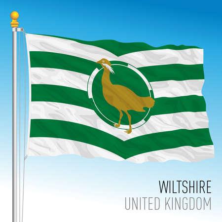 Wiltshire county flag, United Kingdom, vector illustration Archivio Fotografico - 159621968