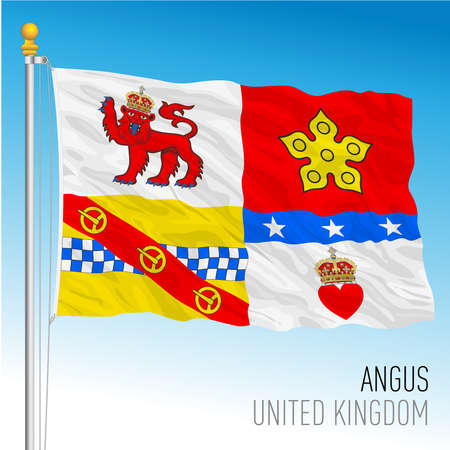 Angus county flag, United Kingdom, vector illustration Archivio Fotografico - 159746407