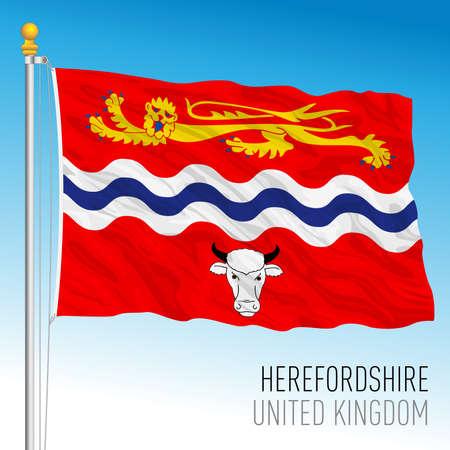 Herefordshire county flag, United Kingdom, vector illustration