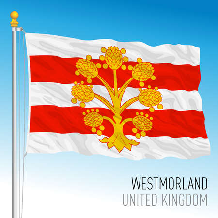 Westmorland county flag, United Kingdom, vector illustration